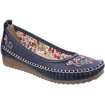 Fleet & Foster Womens/Ladies Algarve Moccasin Casual Slip On Shoes