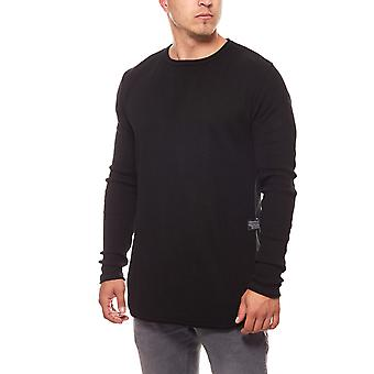CARISMA rope mens knitted sweater round neck black