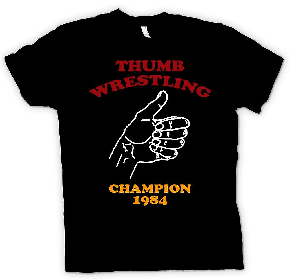 Mens T-shirt - Thumb Wrestling Champion - Funny