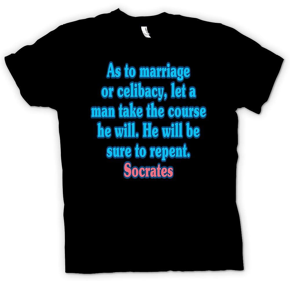 Mens T-shirt - As to marriage or celibacy, let a man take the course