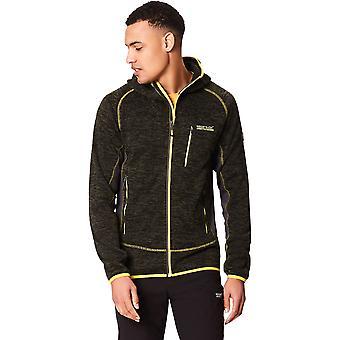 Regatta Mens Cartersville V Hooded Marl Stretch Full Zip Fleece Jacket