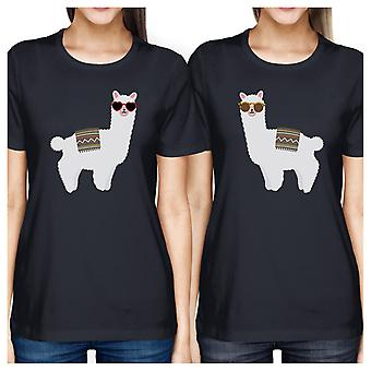 Llamas With Sunglasses Cute Best Friend Shirts Unique Birthday Gift