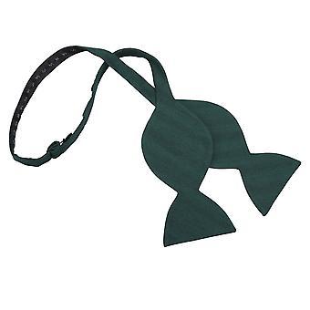 Bottle Green Ottoman Wool Butterfly Self Tie Bow Tie