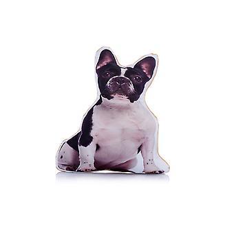 Adorable french bulldog shaped midi cushion