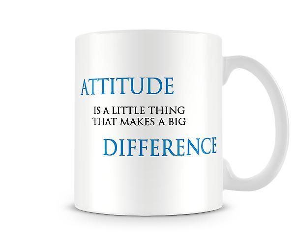Attityd skillnaden tryckta mugg
