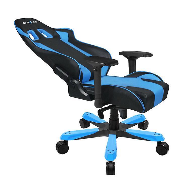 DX Racer DXRacer OH/KS06/NB High-Back Chairs Office Chair Carbon Look Vinyl+PU Desk Chair(Black/Blue)