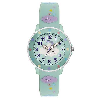 s.Oliver silicone band watch kids SO-3563-PQ