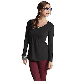 Must-Have Organic Long Sleeve V-Neck Nursing Tee by Mothers en Vogue