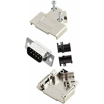 D-SUB pin strip set 45 ° Number of pins: 9 Solder bucket MH Conn