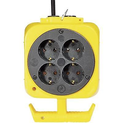 Brennenstuhl 115.176.0 8x Socket splitter Yellow, Black
