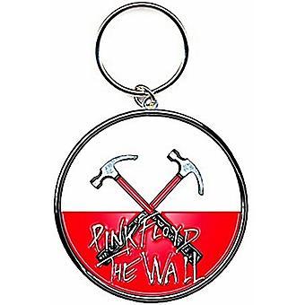 Pink Floyd el muro martillos redonda llavero Metal