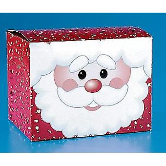 12 Santa Card Christmas Favour or Gift Boxes | Christmas Party Loot Bags