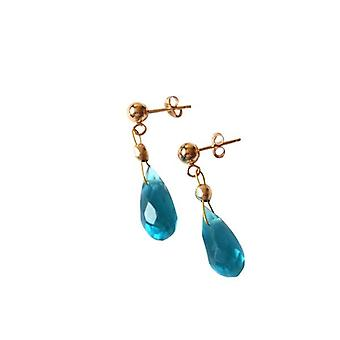 Earrings Blue Topaz Earrings gold plated earrings Blue Topaz KRISTIANA