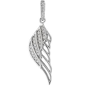 Trailer wings Angel Wings 925 Sterling Silver Pendant with cubic zirconia silver