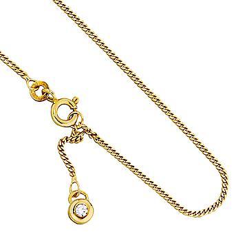 Pieds or 333/g chaîne cheville avec zircons bracelet de cheville en or