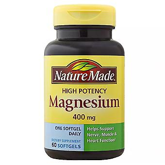 Nature Made magnesio, 400 Mg, cápsulas líquidas, 60 Ea