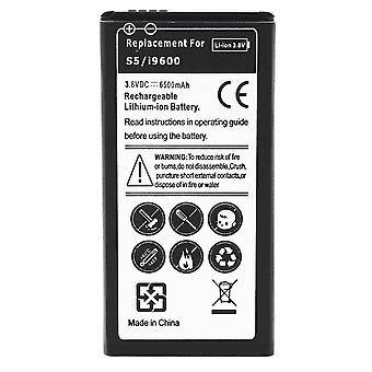 Battery for Samsung Galaxy S5, 6500 mAh Replacement Battery + Housing - White