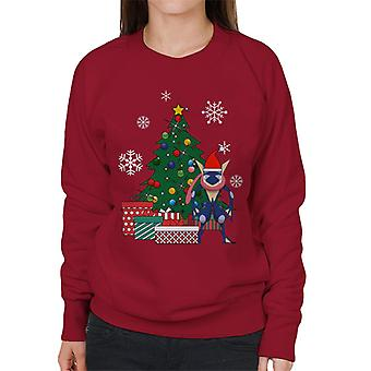 Greninja Pokemon Around The Christmas Tree Women's Sweatshirt