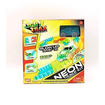Happy Line leichte Trax - Neon Track Kit Glow In The Dark Racing Set