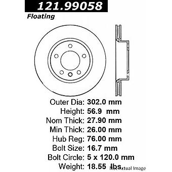 Centric 121.99058 Centric- Standard Brake Rotor - MEX 0LW1R
