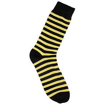 MySocks gestreifte Socken - gelb/schwarz