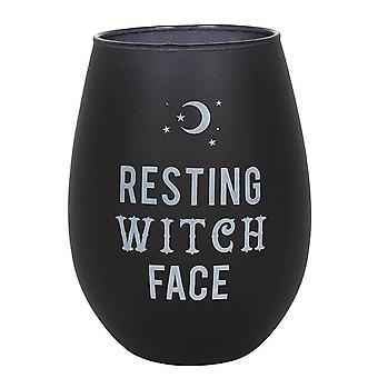 Attitude Clothing Resting Witch Face Stemless Wine Glass