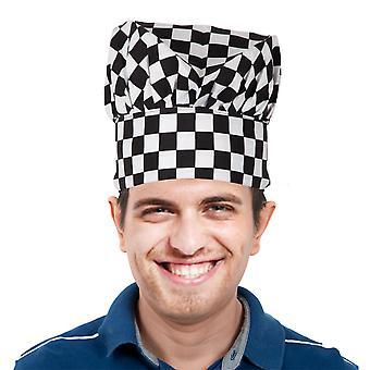 TRIXES czarny kapelusz kucharz kuchnia Professional & białą kratę