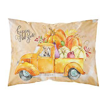 Fall Harvest Welsh Terrier Fabric Standard Pillowcase