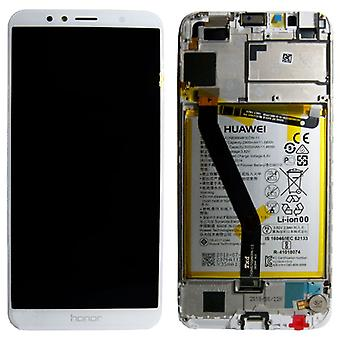 Huawei Avläsningsenheten LCD + Service Pack 02351WER vit ram för ära 7A nya