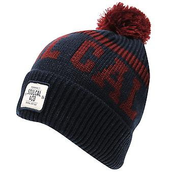 SoulCal Mens Svarog Hat Bobble Winter Knitted