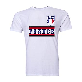 France Core Football pays T-Shirt (White)