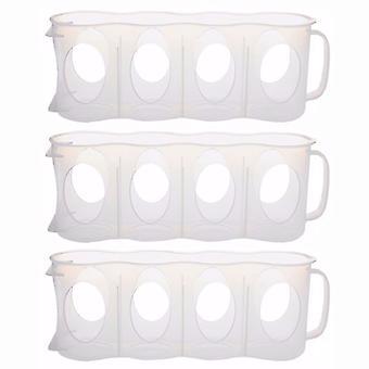 مجموعة تريكسيس من 3 البيرة والمشروبات الغازية غير قابلة للانزلاق يمكن حامل-مطبخ ثلاجة منظم
