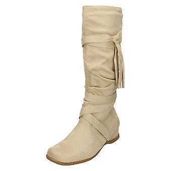 Womens Spot On Calf High Boots Hollie