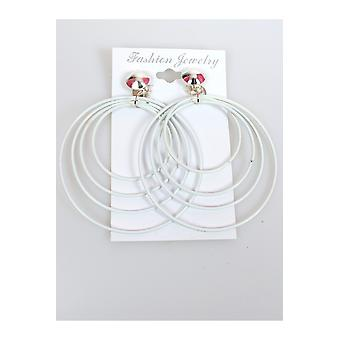 Jewelry and crowns  Disco earrings white