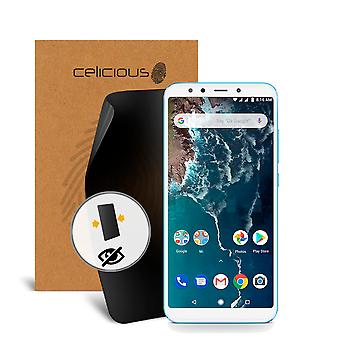Celicious Privacy 2-Way Anti-Spy Filter Screen Protector Film Compatible with Xiaomi Mi A2