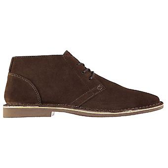 Kangol Mens Desert Shoes Boots Lace Up Pointed Toe Textured