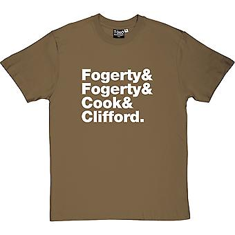 T-shirt uomo Creedence Clearwater Revival line-up