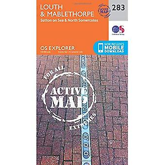 OS Explorer mapę Active (283) Louth i Mablethorpe (OS Explorer Active Map)