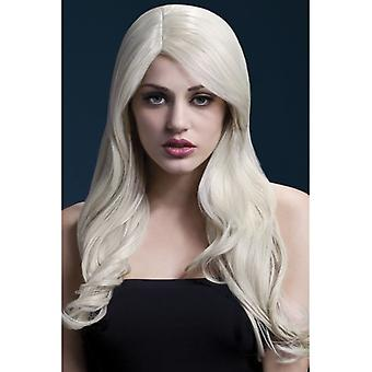 Fever Nicole Wig, Blonde, Soft Wave with Side Parting, 66cm / 26in Fancy Dress Accessory
