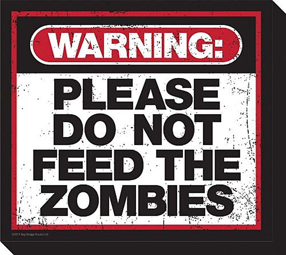 Please Do Not Feed The Zombies chunky thick fridge magnet    (nm)