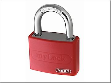 ABUS T65AL/40 40mm My Lock Aluminium Padlock Red Body 50012