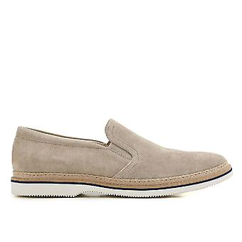 Hogan Beige Suede Slip On Sneakers