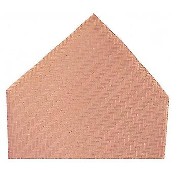 David Van Hagen Herringbone Silk Handkerchief - Peach