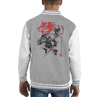 Twilight Wolf Japan Legend Of Zelda Kid's Varsity Jacket