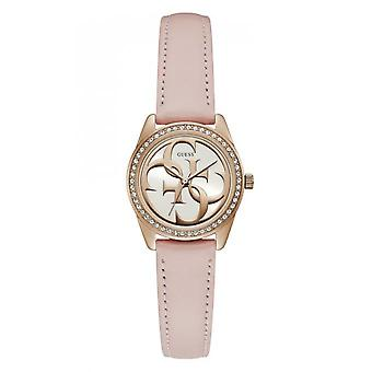 Guess watch G TWIST W1212L1 - shows crystals pink woman leather strap Rose Gold case