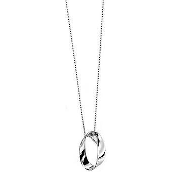 Pendentif ovale de débuts ouverts Twist - Silver