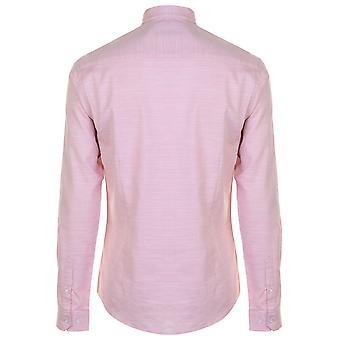 Pierre Cardin Mens Slub Shirt Long Sleeve Casual Cotton Slim Fit