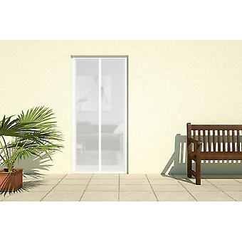 Insect-protection door fly screen door magnetic strips curtain 100 x 220 cm in white