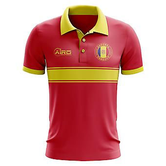 Andorra Concept Stripe Polo Shirt (Red)