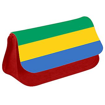 Gabon Flag Printed Design Pencil Case for Stationary/Cosmetic - 0062 (Red) by i-Tronixs